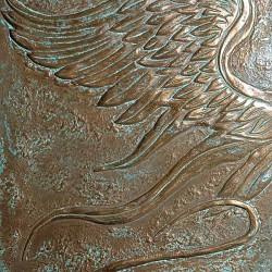 Пример нанесения художественного покрытия - образец Art-BronzeBird