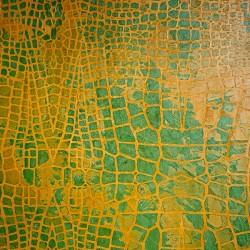 Пример нанесения художественного покрытия - образец Art-Crocodile