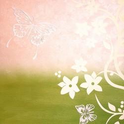 Пример нанесения художественного покрытия - образец Art-Flowers