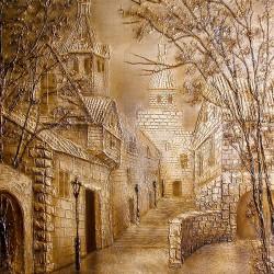 Пример нанесения художественного покрытия - образец Art-Gorod-1