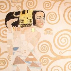 Пример нанесения художественного покрытия - образец Art-Klimt