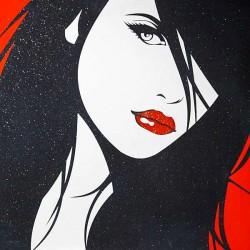 Пример нанесения художественного покрытия - образец Art-Woman