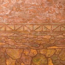 Пример нанесения художественного покрытия - образец BI-28