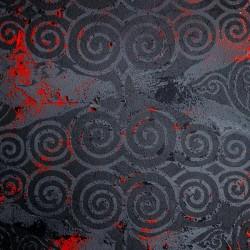 Пример нанесения фактурного трафаретного покрытия - образец Art-BlackSpiral