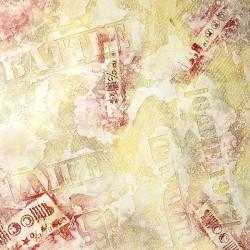 Пример нанесения фактурного трафаретного покрытия - образец T01-01-30